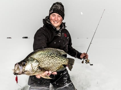 Crappies species in depth outdoors for Red lake ice fishing