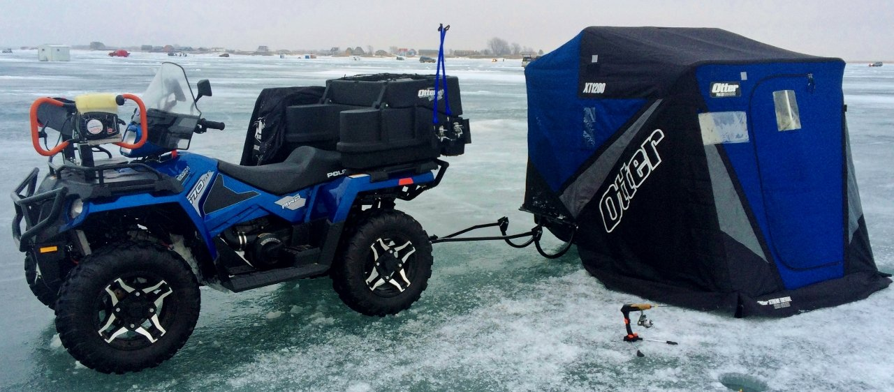 Ice is coming, time for some ATV/Sled and Shelter Mods - Ice Fishing