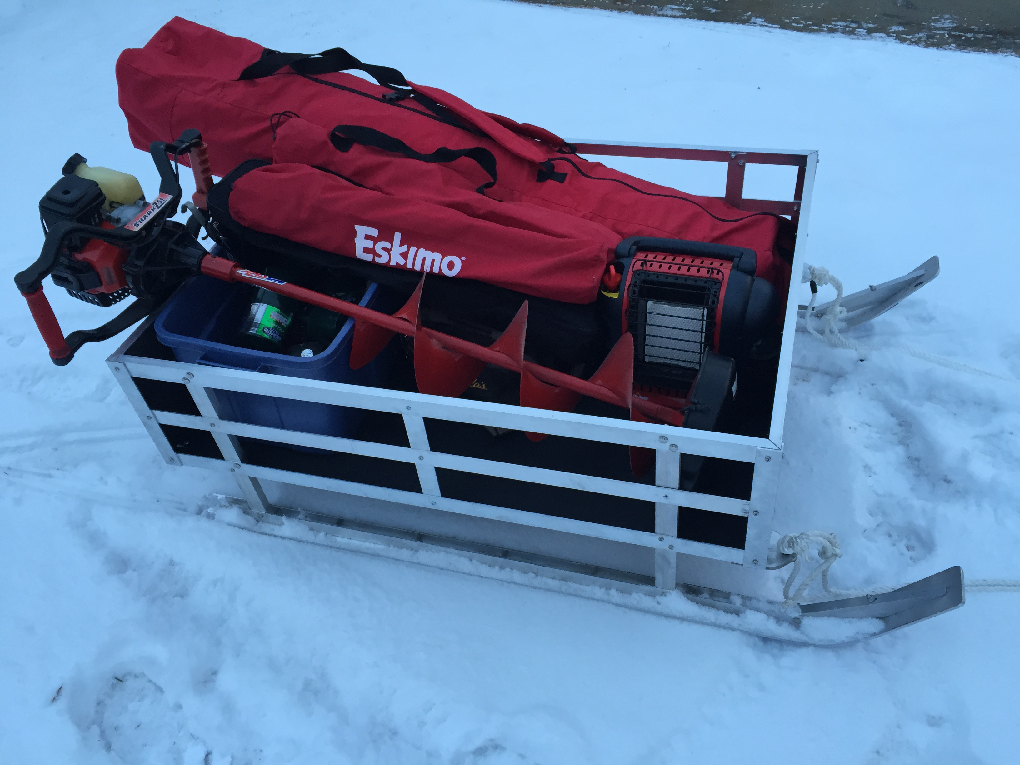 aluminum ice fishing sled ice fishing forum in depth