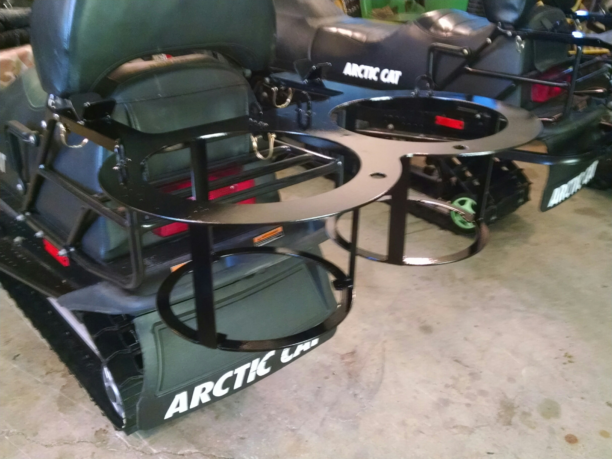snowmobile rack ice fishing forum in depth outdoors
