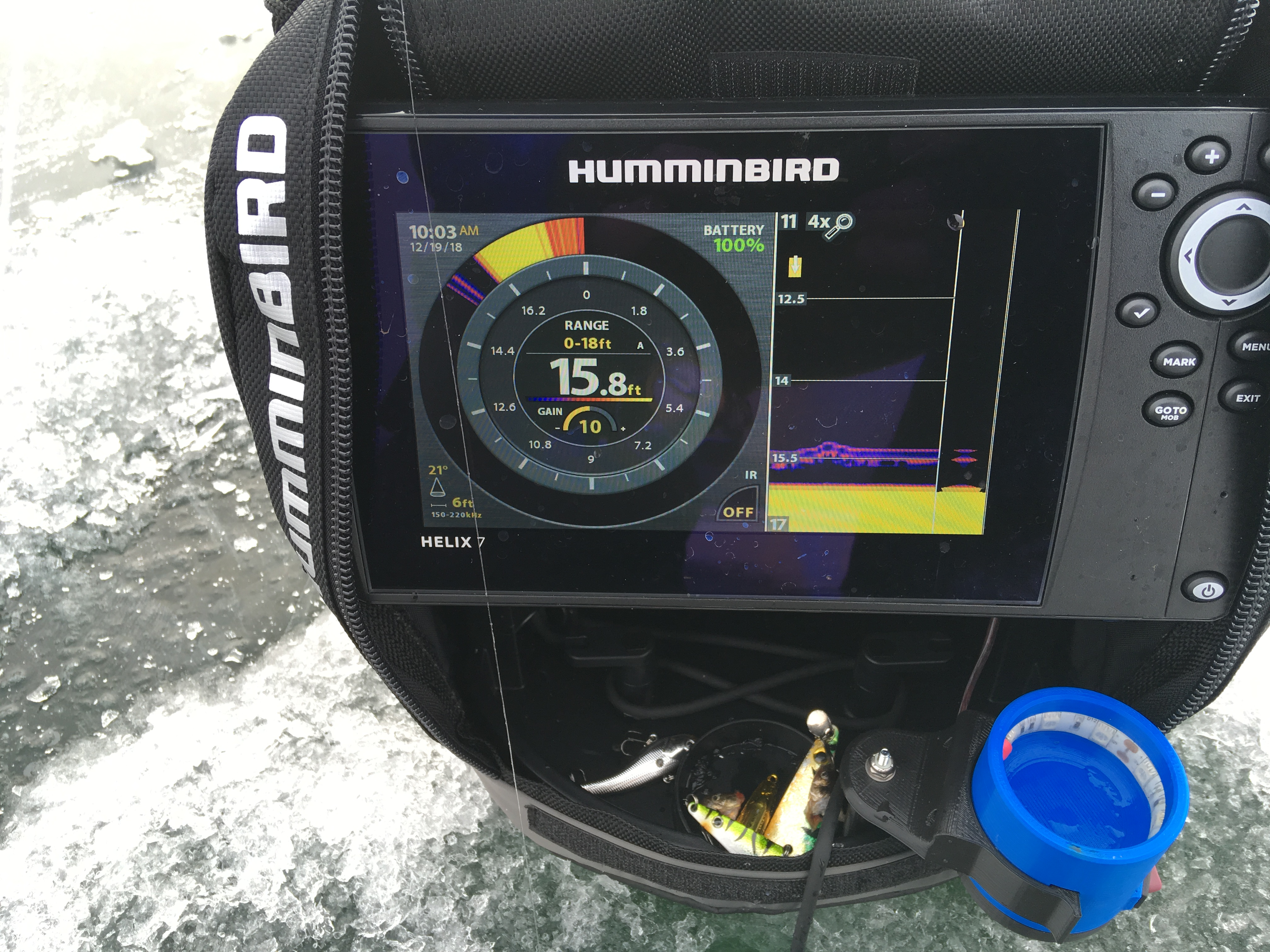 Humminbird Helix 7 + Energized Outdoors 10ah Lithium - Ice